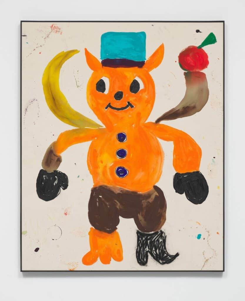 Szabolcs Bozó, Voodoo Child - LA 06, 2020. Acrylic on canvas. Courtesy of The North Hill Residency.