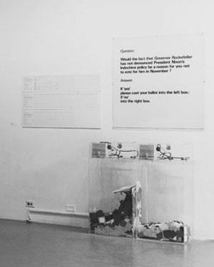 Installation view of the exhibition Information, July 2–September 20, 1970. Hans Haacke