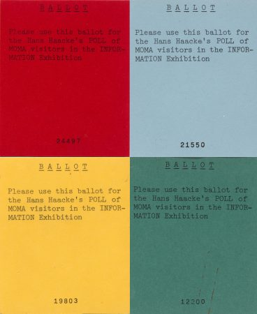 Ballots used for Hans Haacke's Poll of MoMA