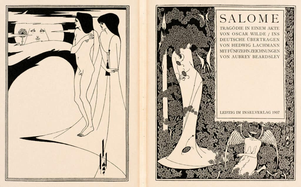Aubrey Beardsley's drawings illustrating Salomé by Oscar Wilde, 1894, published by John Lane, London, 1907. © Victoria and Albert Mus