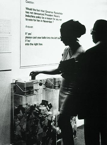 Hans Haacke, MoMA-Poll, 1970 © Hans Haacke/VG Bild-Kunst