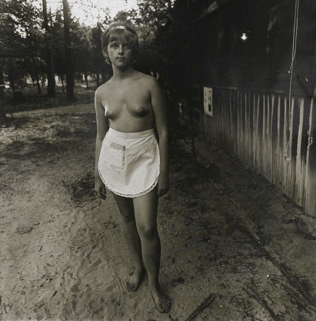 Diane Arbus, Nudist Camp, New Jersey, 1963. Available for purchase on Artland.