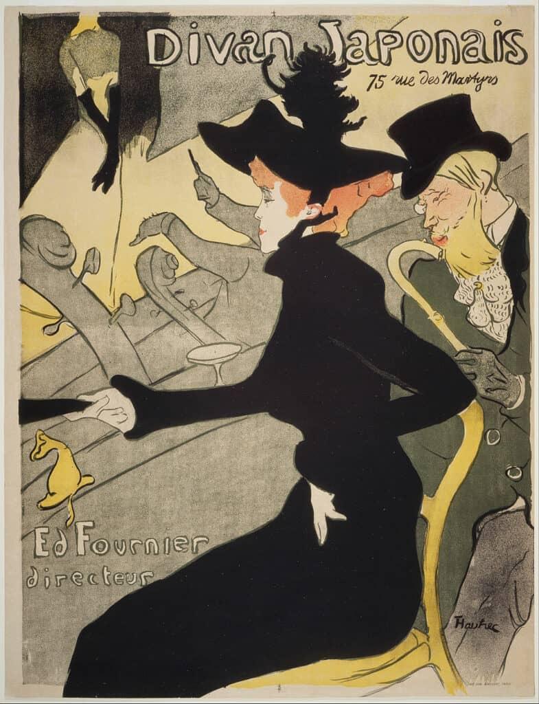 Divan Japonais - by Henri de Toulouse-Lautrec