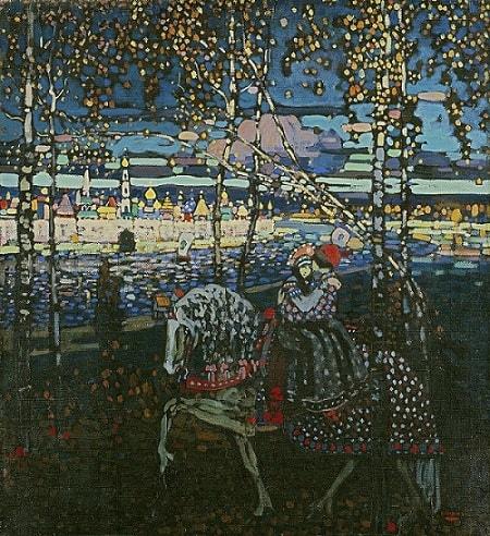 Wassily Kandinsky - Couple on Horseback