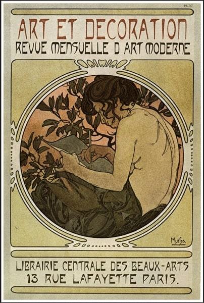 Alphonse Mucha, Art et Decoration, published by Librairie Centrale des Beaux-Arts in Paris, 1902.