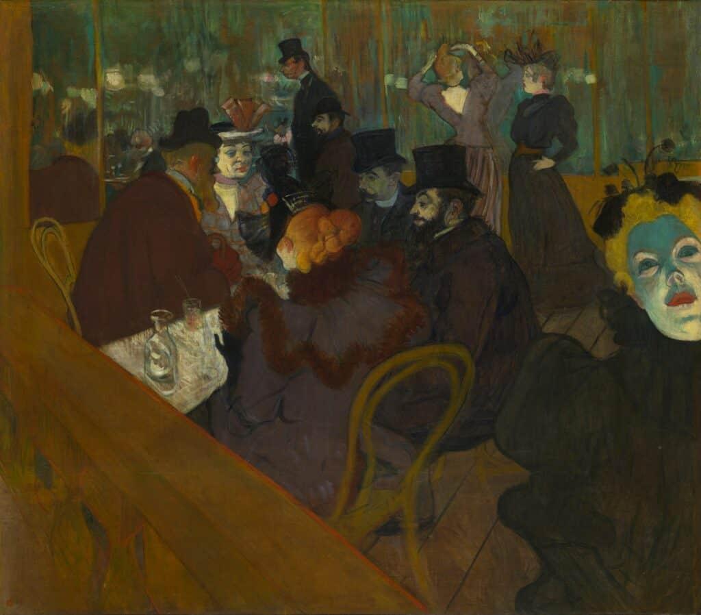 At the Moulin Rouge - by Henri de Toulouse-Lautrec