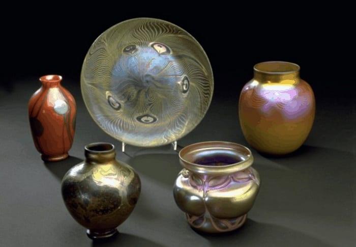 Favrile glass specimens - 1896-1902