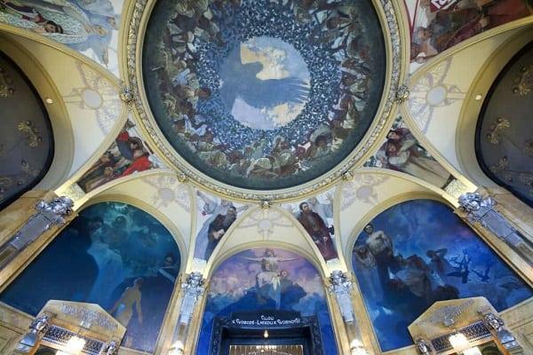 Alphonse Mucha, Lord Mayor's Hall in Prague's Municipal House