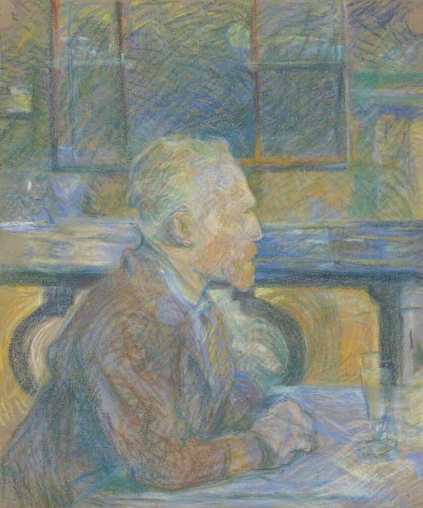 Portrait of Vincent van Gogh by Henri de Toulouse-Lautrec
