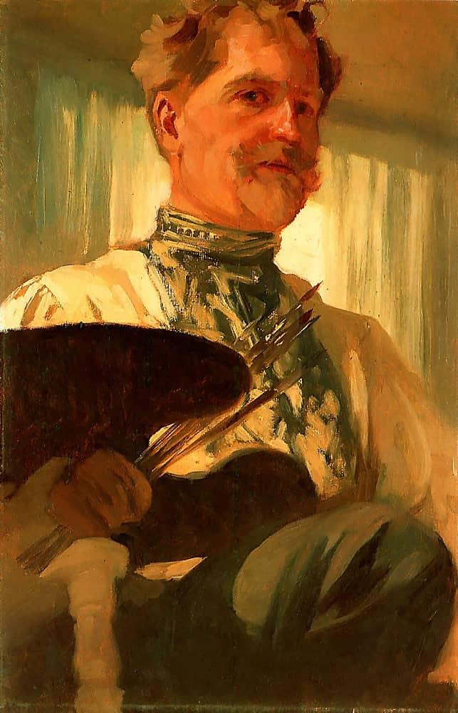Alphonse Mucha, Self-portrait.