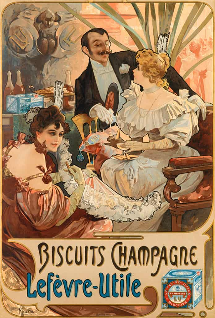 Biscuits Champagne Lefèvre Utile, advertisement, 1896