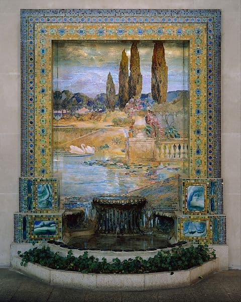 Louis Comfort Tiffany, Garden Landscape.