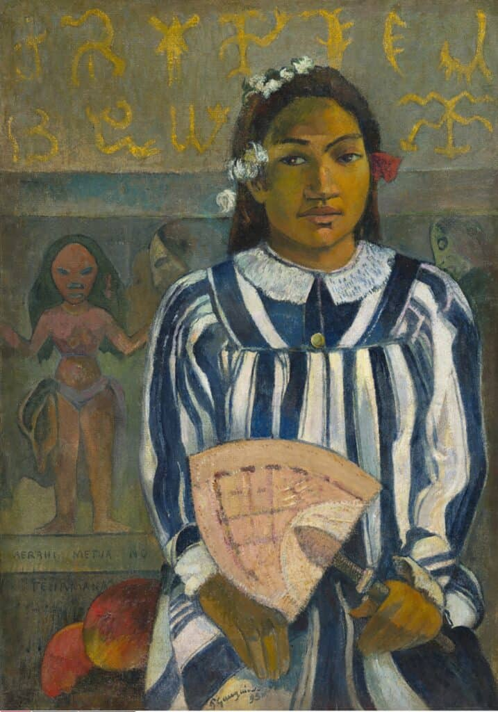 Paul Gauguin, Tehamana Has Many Parents or The Ancestors of Tehamana (Merahi metua no Tehamana), 1893. National galleries
