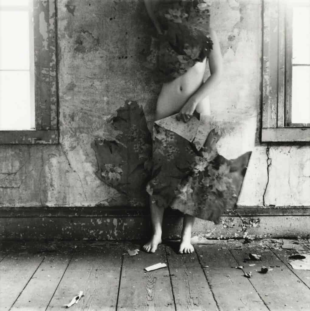 Francesca Woodman, Untitled from the series Space2, Providence, Rhode Island, 1976. Courtesy Sotheby's.